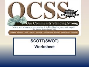 Cover of SCOTT (SWOT) Worksheet