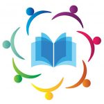 logo graphic showing people icons surrounding open book